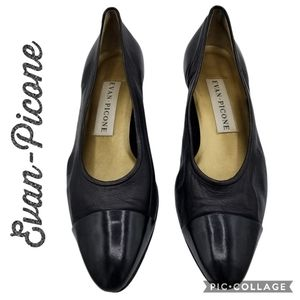 Evan-Picone Shoes Black Pumps Patent Size 8.5 Med